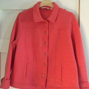 Isaac Mizrahi Live Pink Jacket